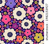 colorful cute hand drawn floral ...   Shutterstock .eps vector #1982153927