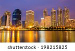 city downtown at night with... | Shutterstock . vector #198215825
