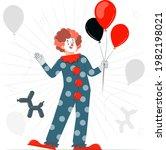 clown concept illustration.... | Shutterstock .eps vector #1982198021
