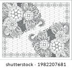 coloring book for adult and... | Shutterstock .eps vector #1982207681