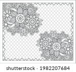coloring book for adult and... | Shutterstock .eps vector #1982207684