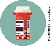 vector pill bottle with capsule ... | Shutterstock .eps vector #198221939