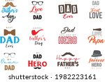 happy fathers day lettering.... | Shutterstock .eps vector #1982223161