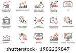 vector set of linear icons...   Shutterstock .eps vector #1982239847