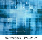 computer circuit on a soft blue ... | Shutterstock . vector #19822429