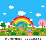 farm animals with background | Shutterstock .eps vector #198226661