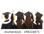 graduate students pointing and... | Shutterstock . vector #198226871
