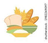 carbohydrates food concept... | Shutterstock .eps vector #1982269097