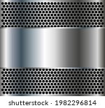 metallic background with silver ... | Shutterstock .eps vector #1982296814
