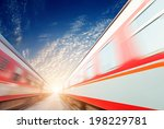 fast moving train  | Shutterstock . vector #198229781