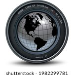 camera photo lens and silver... | Shutterstock .eps vector #1982299781