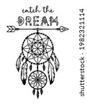 dreamcatcher silhouette with... | Shutterstock .eps vector #1982321114