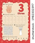 worksheets for learning numbers.... | Shutterstock .eps vector #1982332397