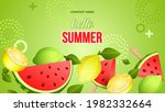 summer background with tropical ... | Shutterstock .eps vector #1982332664