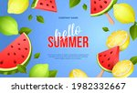 summer bright banner with ripe... | Shutterstock .eps vector #1982332667