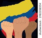 colombia hands activists...   Shutterstock .eps vector #1982358554