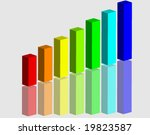 3d graph with reflection | Shutterstock .eps vector #19823587