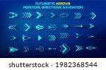 set of futuristic arrows....