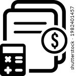 accounting icon vector.... | Shutterstock .eps vector #1982401457