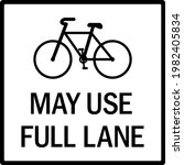 may use full lane with cycle... | Shutterstock .eps vector #1982405834