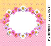 floral background with daisy in ... | Shutterstock .eps vector #198240869