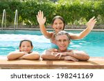 family portrait of a father and ... | Shutterstock . vector #198241169