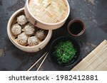 Bamboo Steamer With Chinese...