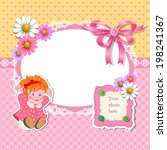 baby shower for girl with toy...   Shutterstock .eps vector #198241367