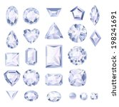 set of realistic white jewels.... | Shutterstock . vector #198241691