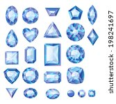 set of realistic blue jewels.... | Shutterstock . vector #198241697