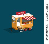fast food restaurant trailer....   Shutterstock .eps vector #1982422061