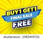 buy 1  free get 1 final sale... | Shutterstock .eps vector #1982445731