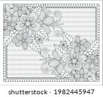 coloring book for adult and... | Shutterstock .eps vector #1982445947