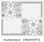 coloring book for adult and... | Shutterstock .eps vector #1982445971