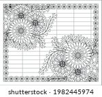 coloring book for adult and... | Shutterstock .eps vector #1982445974