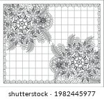 coloring book for adult and... | Shutterstock .eps vector #1982445977