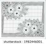 coloring book for adult and... | Shutterstock .eps vector #1982446001