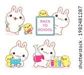 Back To School. Set Of Kawaii...