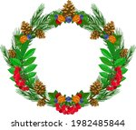 vector drawing of a wreath or a ... | Shutterstock .eps vector #1982485844