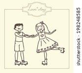 funny cartoon illustration of a ... | Shutterstock .eps vector #198248585