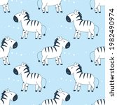 childish seamless pattern with... | Shutterstock .eps vector #1982490974
