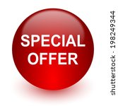 special offer red computer icon ... | Shutterstock . vector #198249344