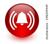 alarm red computer icon on... | Shutterstock . vector #198249449