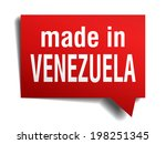 made in venezuela red  3d... | Shutterstock .eps vector #198251345