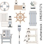 nautical outdoor and patio...   Shutterstock .eps vector #1982537171