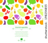 vegetables vector light... | Shutterstock .eps vector #198254855