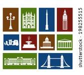 landmarks of united kingdom ... | Shutterstock .eps vector #198255515