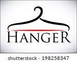 hanger design over white... | Shutterstock .eps vector #198258347