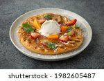Apple Pie Decorated With Peach...