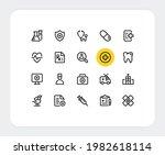 healthcare vector line icons.... | Shutterstock .eps vector #1982618114
